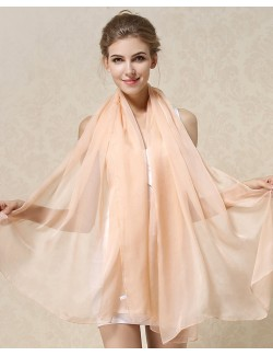 Nude-colored stole shawl 100% mulberry silk scarf natural pure silk