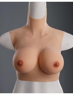 Faux seins légers silicone bonnet D rembourrage en fibre de polyester