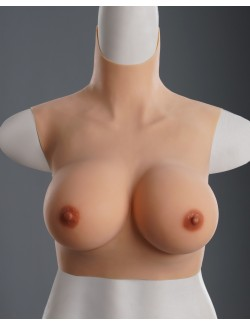 Lightweight D cup silicone breasts forms polyester fiber filling