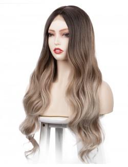 Natural long wavy curly hair wig