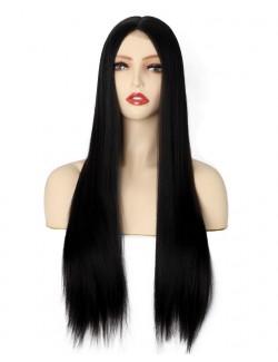 Natural long straight hair wig