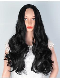 Lifelike straight deep wave hair wig