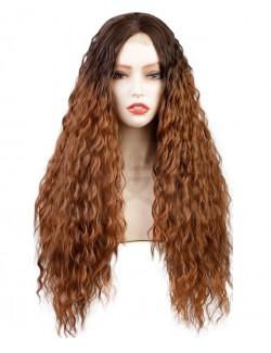 Long wavy curly hair wig natural and realistic