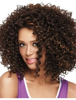 Dark brown Afro hair wig big-haired wig
