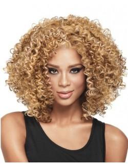 Light brown afro hair wig