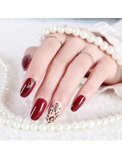 Autocollants de vernis à ongles solide rouge vif grande taille