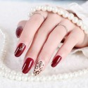 Bright red solid nail polish stickers large size