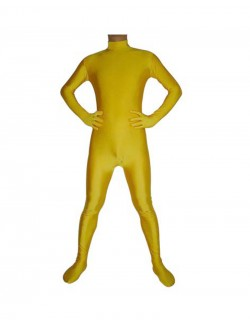 Orange costume seconde peau spandex combinaison