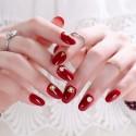 Red solid varnish nail polish stickers big size