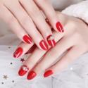 Scarlet solid varnish nail polish rhinestones stickers big size