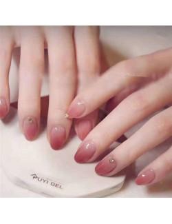Vernis à ongles dégradé rose vernis à ongles autocollants grande taille