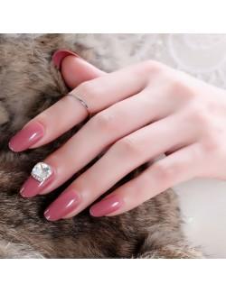Vernis à ongles rose solide vernis auto-adhésif