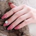 Rose solid varnish nail polish rigid stickers