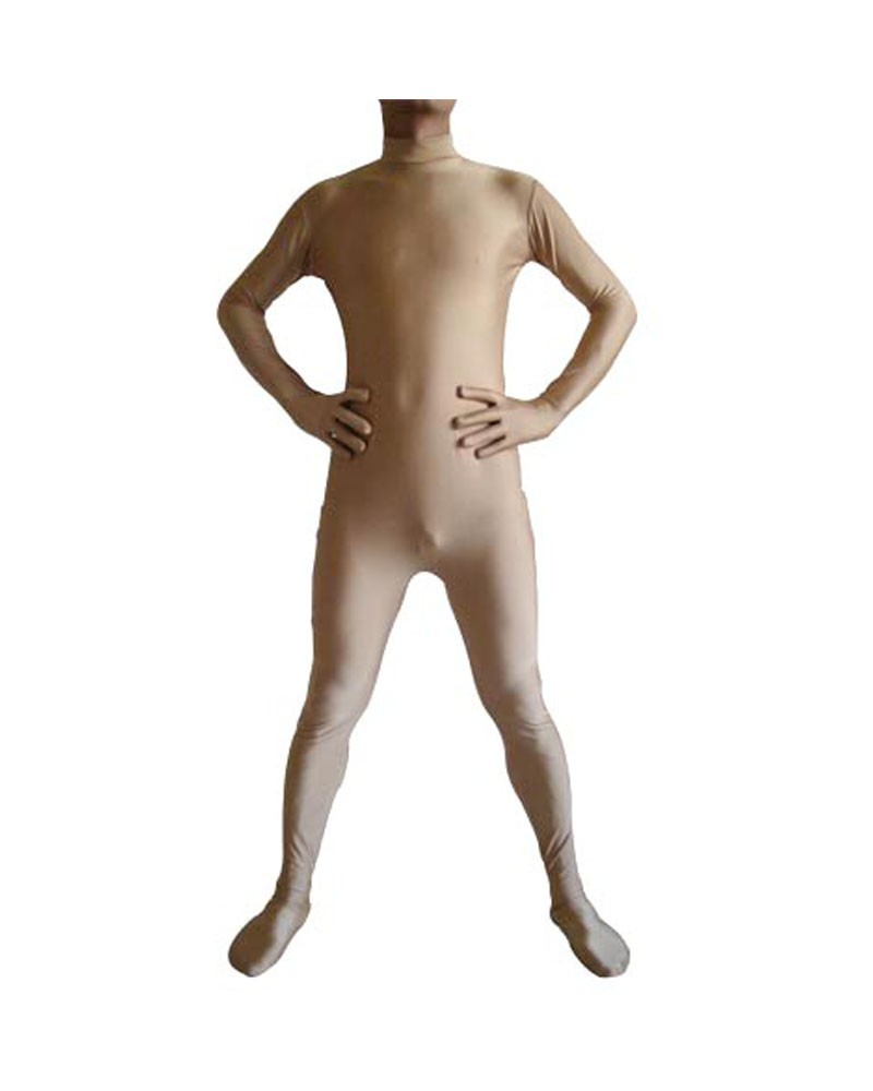 Light brown zentai suit spandex unisex