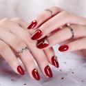 Adhesive false nail red shining decoration