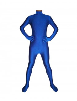 Bleu royal costume combinaison seconde peau