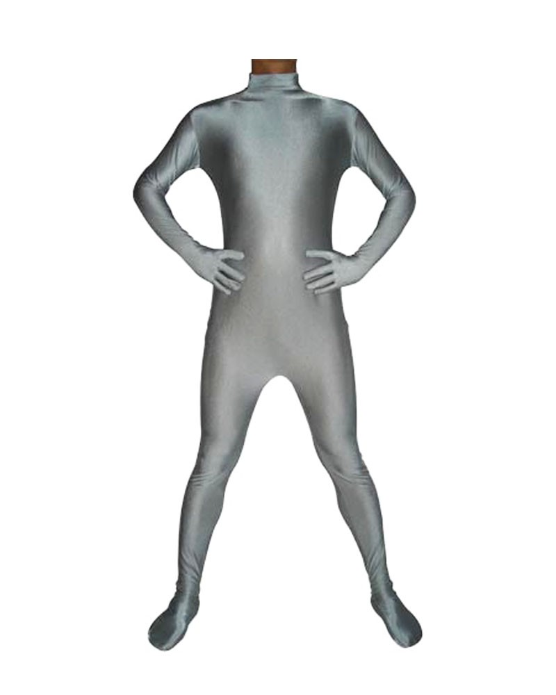 Slate gray catsuit second skin zentai