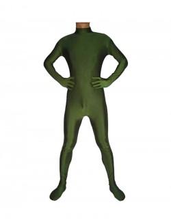 Hunter green catsuit second skin zentai