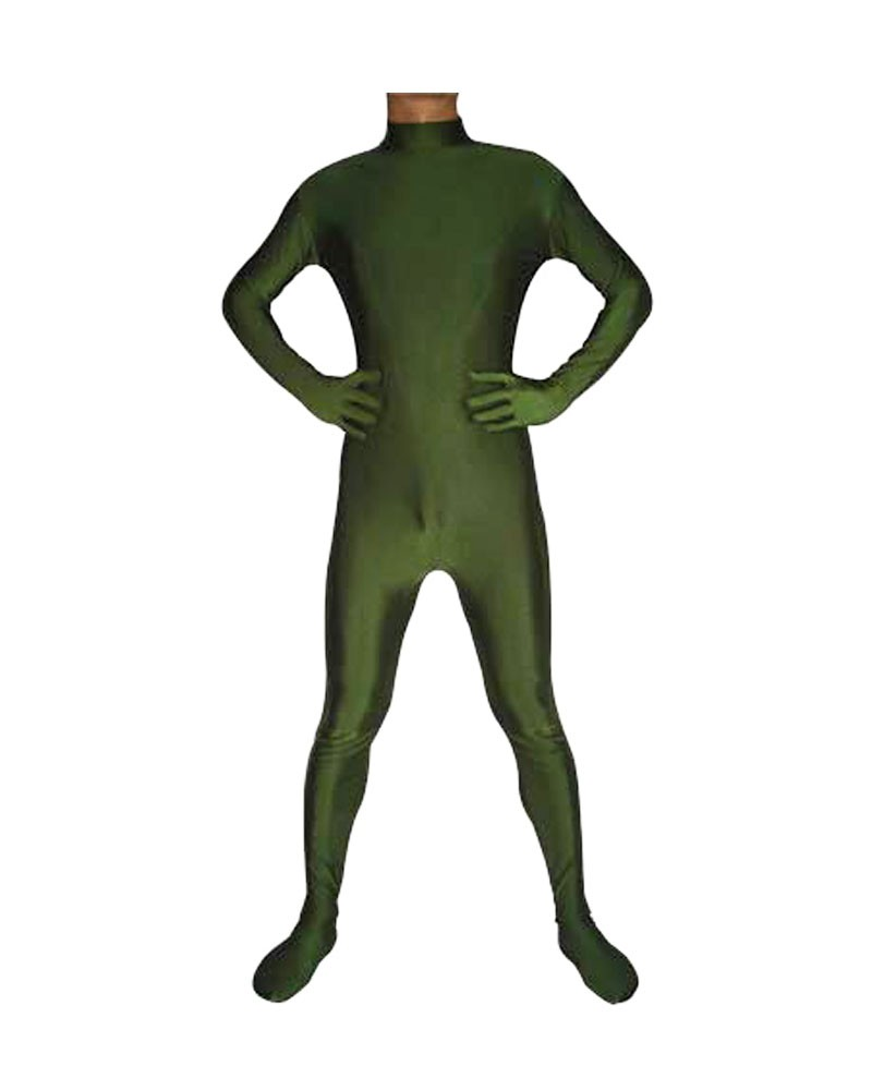 Hunter green catsuit second skin zentai