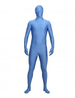 Pale blue zentai second skin suit