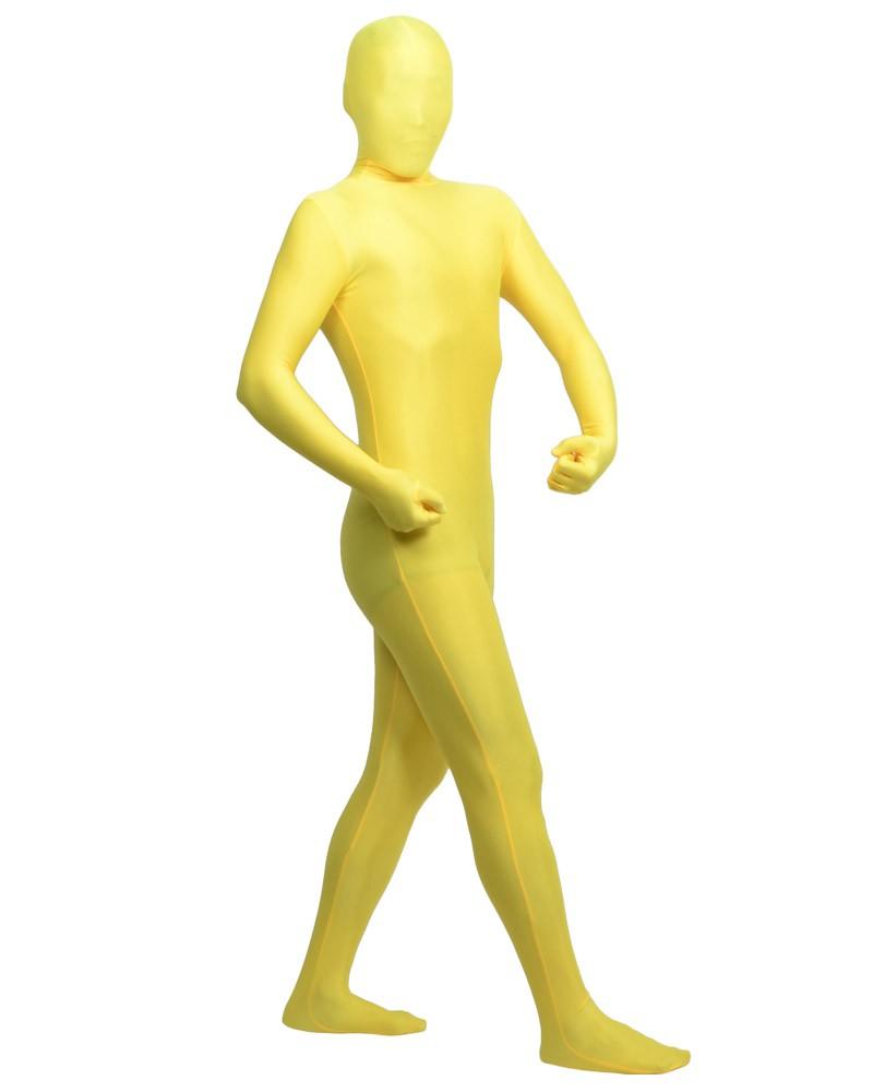 Yellow zentai spandex clothing