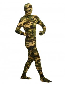 Zentai spandex clothing camouflage pattern