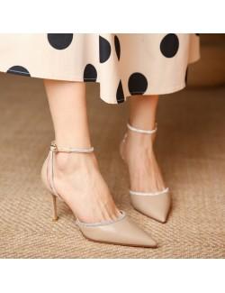 Light elegance ankle strap heels