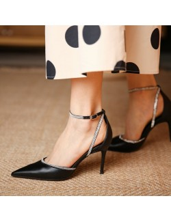 Ankle strap sexy stiletto shoes