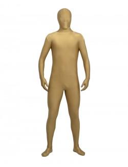 Light brown zentai spandex clothing