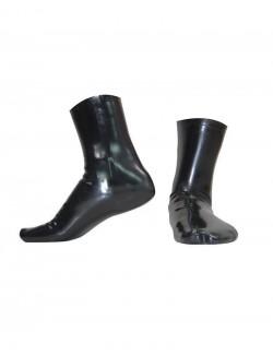 Black latex socks
