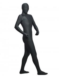 Slate gray zentai spandex clothing