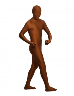 Brown zentai spandex outfit