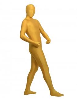 Golden zentai spandex outfit