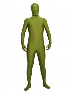 Dark green fullbody suit spandex clothing