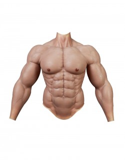 Supersized silicone upper body fake muscles