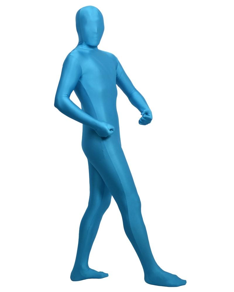 Sky blue fullbody second skin suit spandex