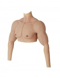 Lifelike silicone strong muscle chest