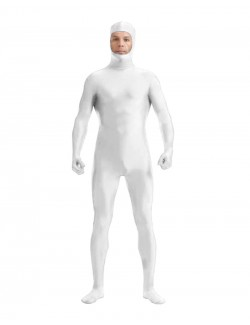 White body suit full face opening