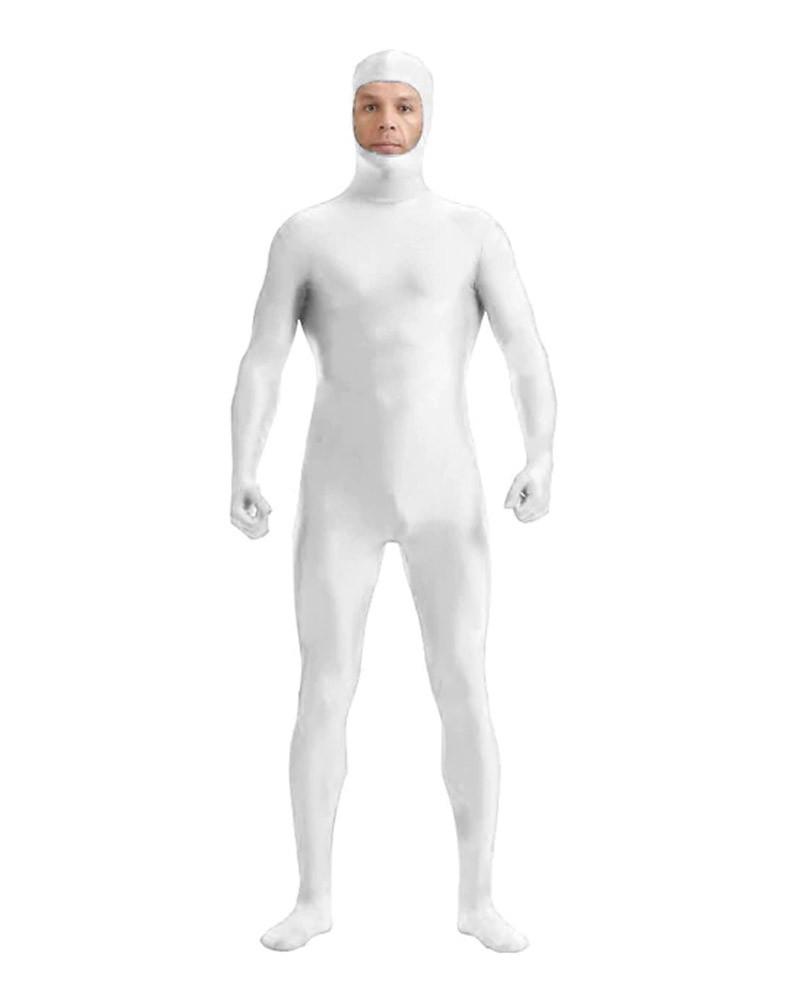 White body suit full face opening