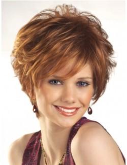Perruque synthétique cheveux courts femme