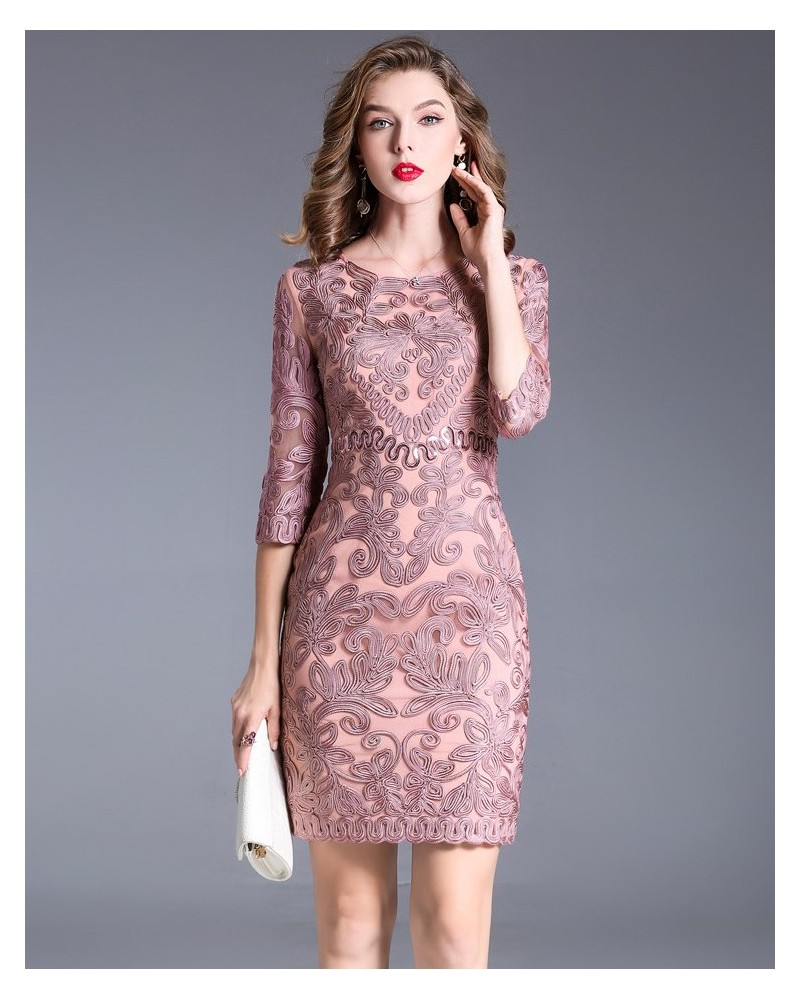 Bridesmaid pink formal gown