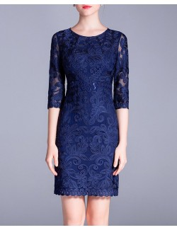 Royal blue evening formal gown