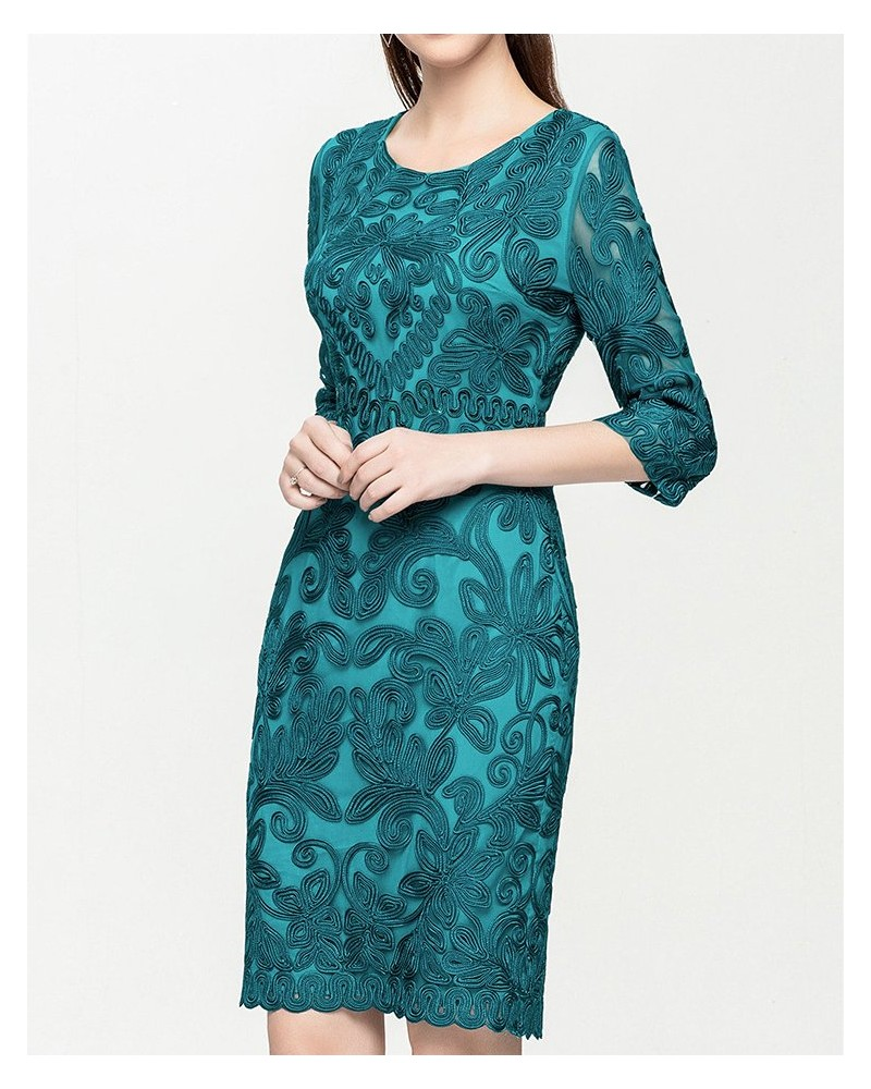 Emerald evening formal occasion gown