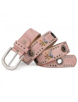 Ladies rivet flower jeans style belt