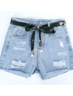 Minimalist fabric skinny belt