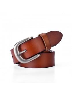 Ladies rivet retro style leather belt