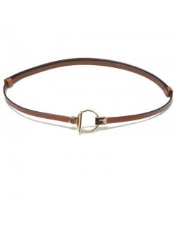 Light brown leather waist belt