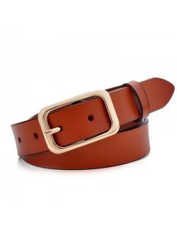 Light brown leather waist belt handmade