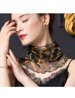 Printed fashion patterns silk scarf