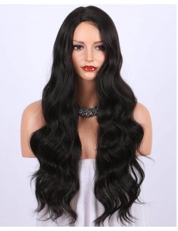 Synthetic wave long wig